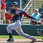Red Sox shortstop Jose Iglesias hit a single in spring training March 1.